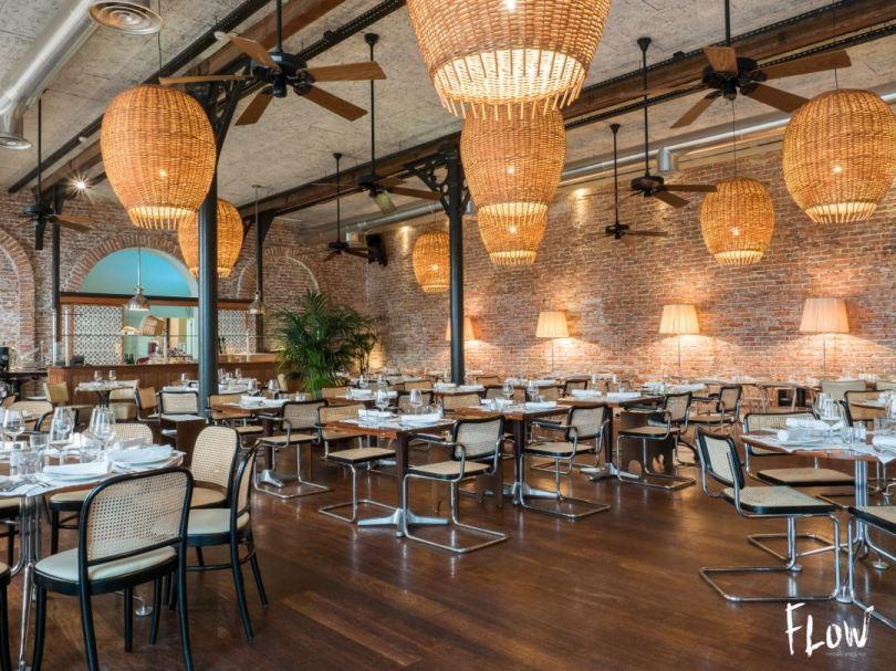 Grande salle du bar restaurant Flow - Porto