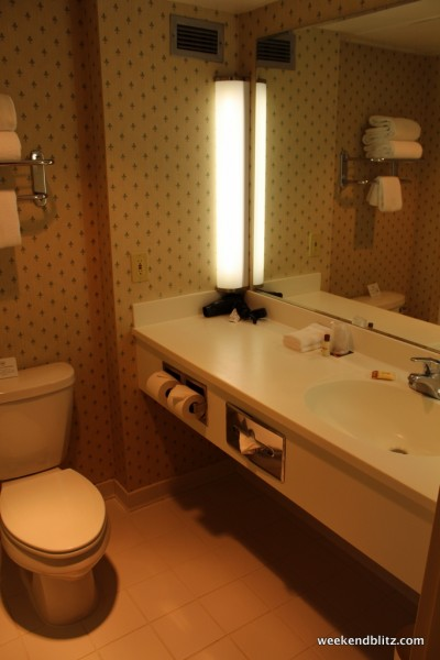 The bathroom was a little grimer that the rest of the room--that I hope a large chunk of that $30 million ends up here.