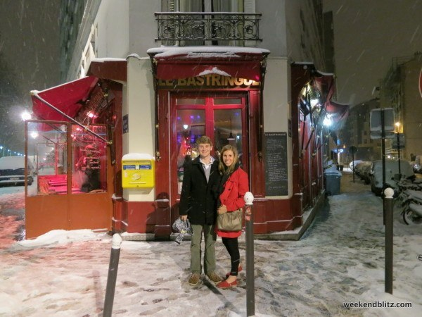 And the cute little restaurant we discovered in 2009 (my Toms were the only shoes that weren't soaking wet from all that snow!)