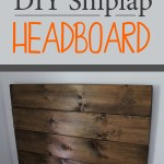 How To Make A Shiplap Headboard Weekend Craft