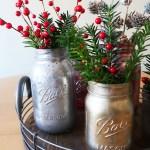 Diy Mercury Glass Mason Jar Vases Weekend Craft