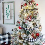 Flocked Buffalo Check Christmas Tree Weekend Craft