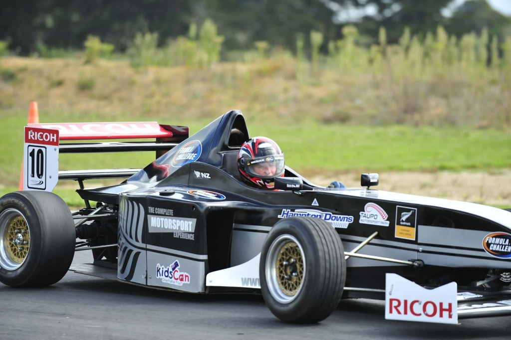 Man in race car at Formula Challenge Taupo