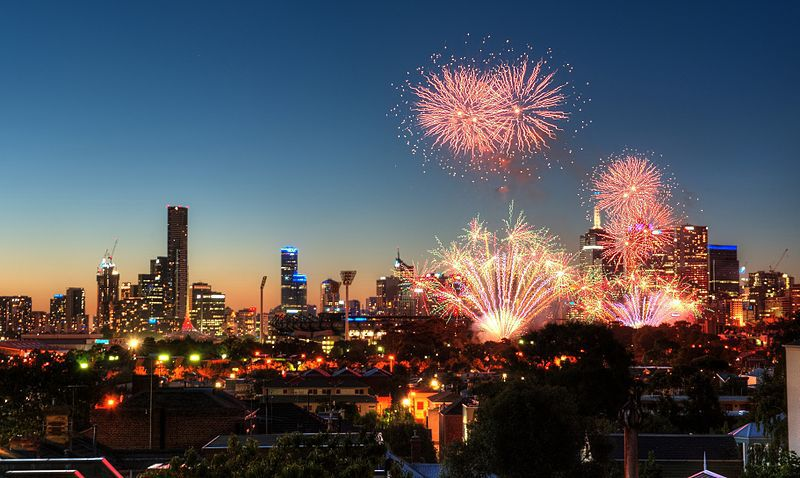 Image result for images melbourne new years eve