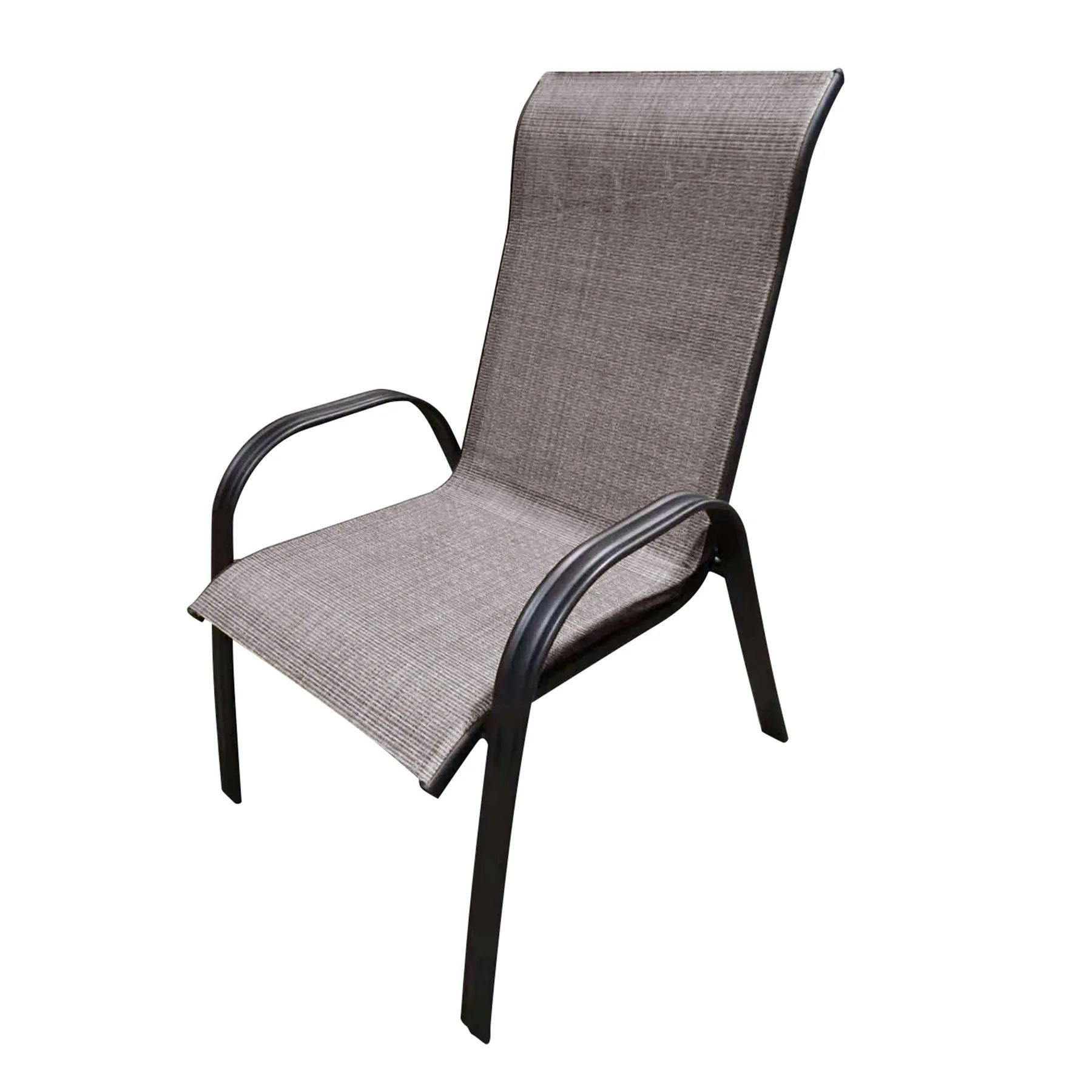 mix and match patio oversized steel sling chair tan