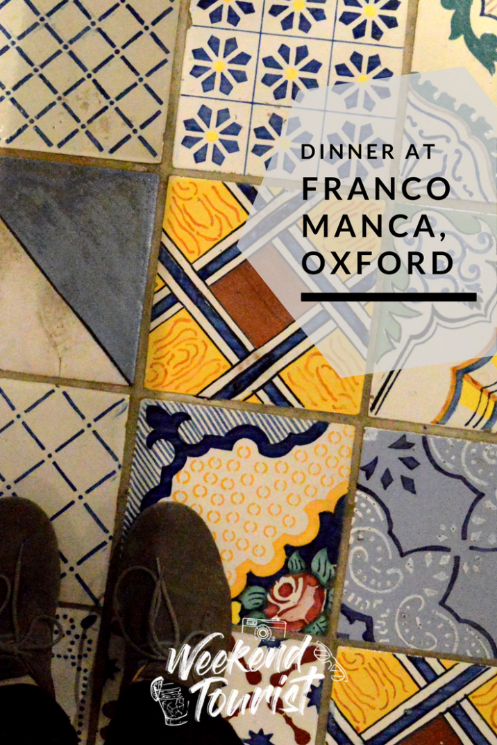 Dinner at Franco Manca, Oxford