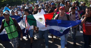 Thousands of migrants heading towards the US