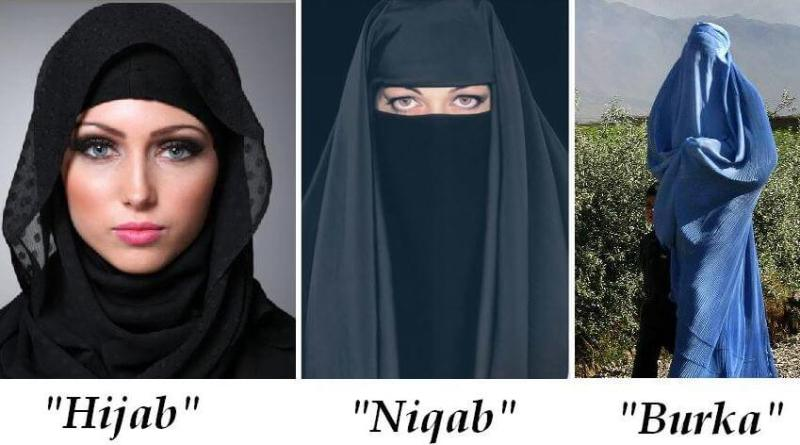 Image result for Pic of a burqa and hijab