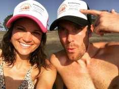 ryan and kira at beach and pool crawl