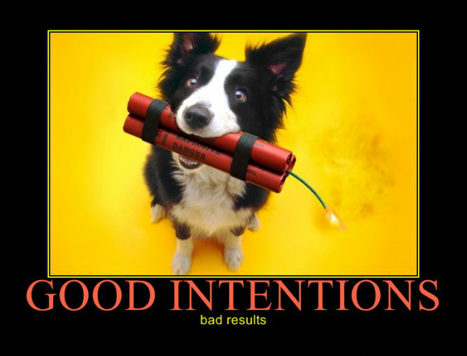 Image result for good intentions bad results