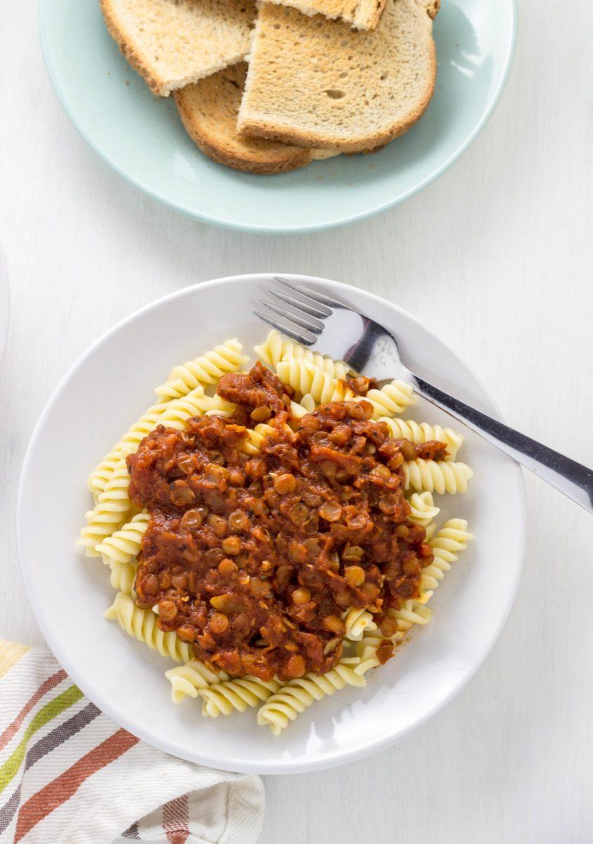 Vegan Lentil Bolognese Sauce