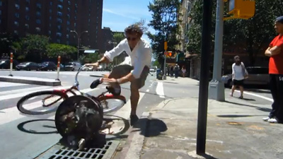 Casey Neistat Riding In The Bike Lane...