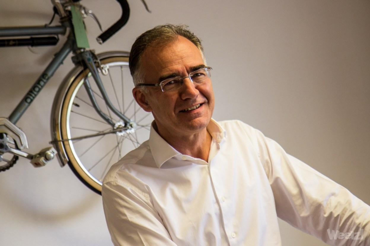Jérôme Valentin, PDG de Cycleurope, dans son bureau