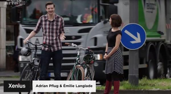 Reportage Xenius, la sécurité du cycliste urbain allemand
