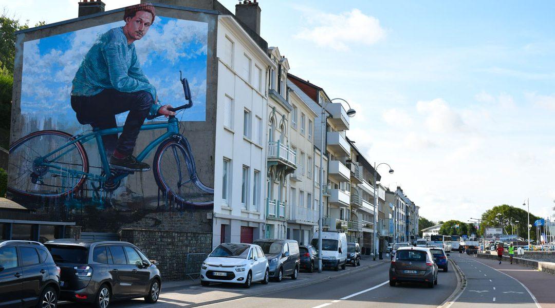 Boulogne-sur-Mer, le vélo pour une allégorie sur le réchauffement climatique