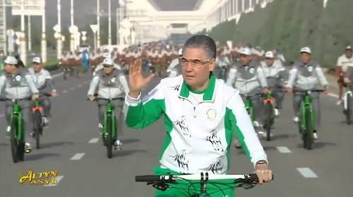 Turkmenistan President Bicycle Ride