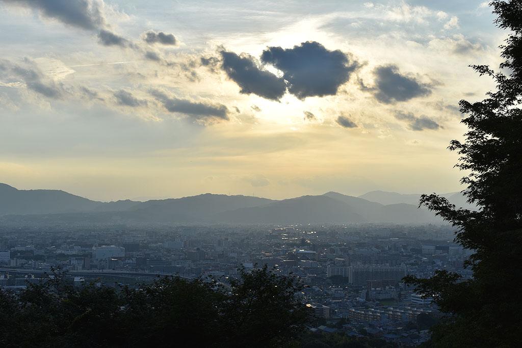 Kioto Kyoto Inari panorama sunset zonsondergang