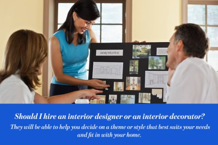 The differences between an interior designer and interior decorator Should I hire an interior designer or an interior decorator