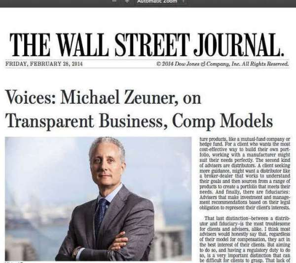 Managing Partner Michael Zeuner featured in The Wall ...