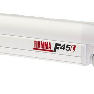 Fiamma F45L Awning Canopy 4.5m with Polar White Casing Blue Canopy - 1