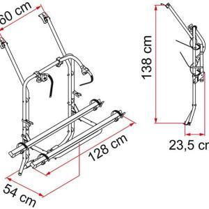 Fiamma Carry Bike Rack VW T4 - 3