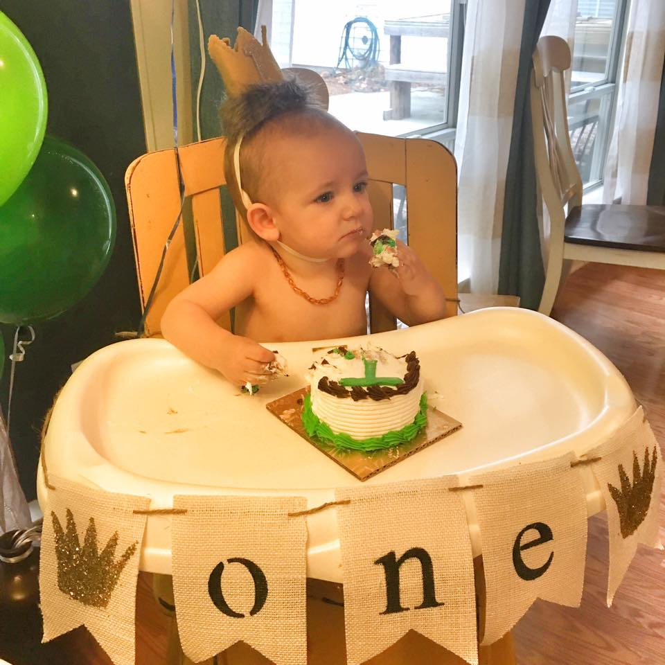 Porter's 1st birthday: Where the Wild Kings Are