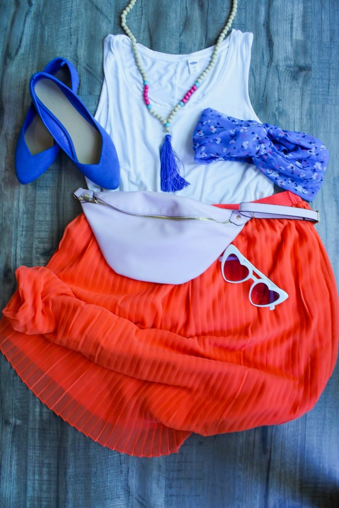 Tangerine and Royal  - 6 bright color combos from summer