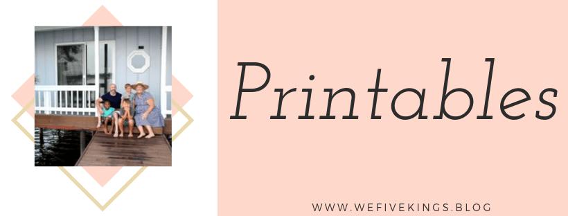 Fall Guide - Printables