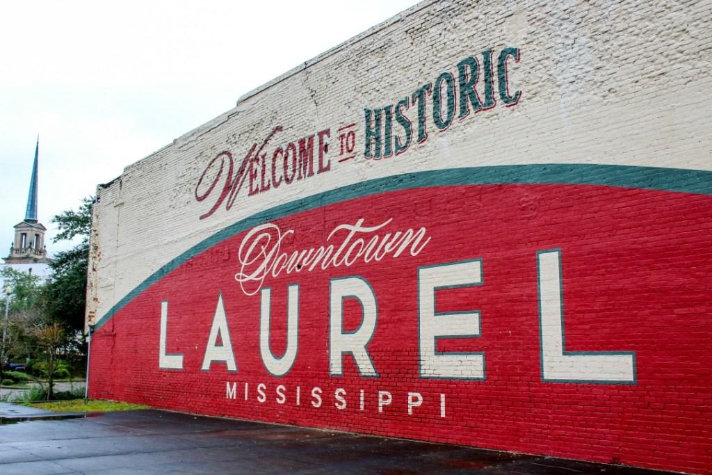 Welcome to Laurel mural