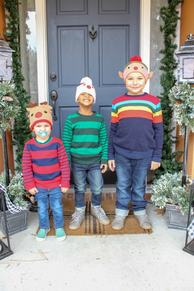 Boys ready for winter fun