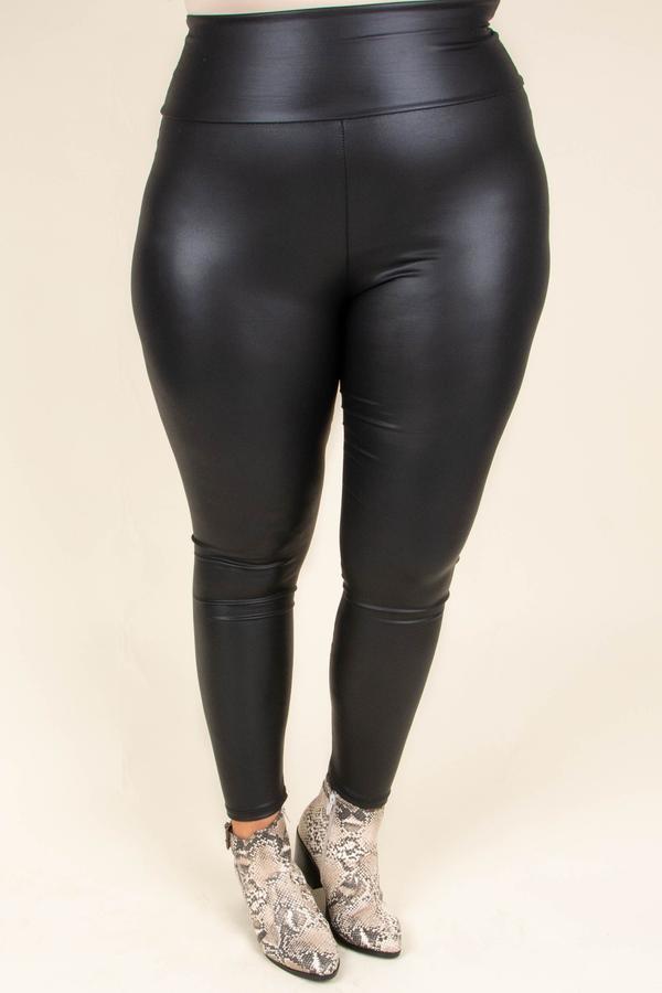 faux leather leggings chic soul