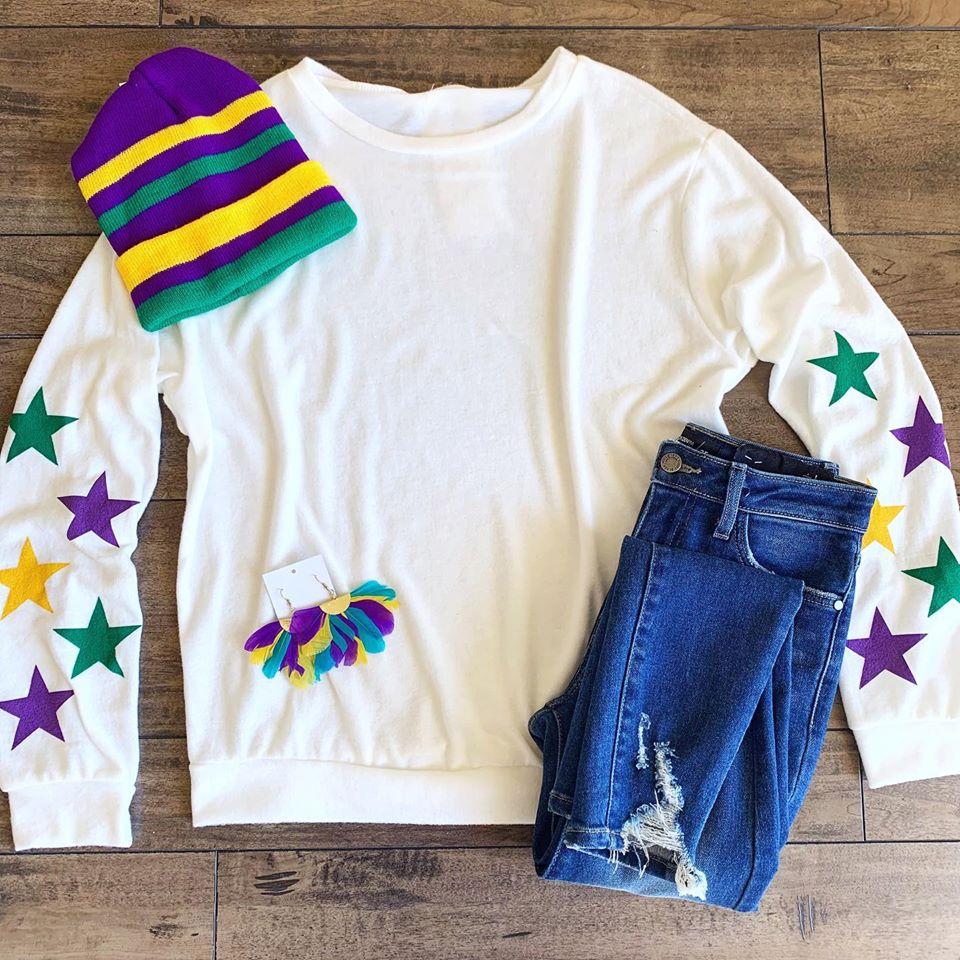 Armoire Boutique Mardi Gras Sweater