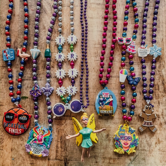 Krewe of Iris signature beads