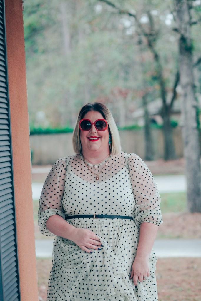 Black and white polka dot H&M Dress