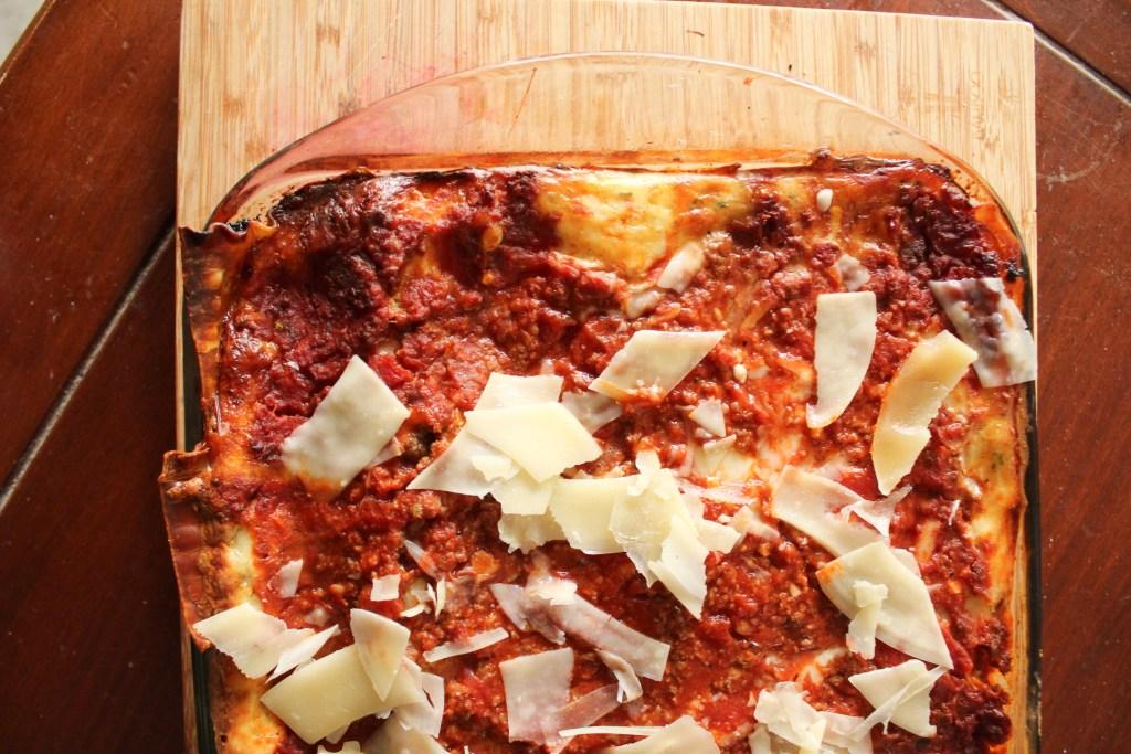 Lasagna for a beach meal