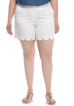 Crown and Ivy scalloped hem shorts