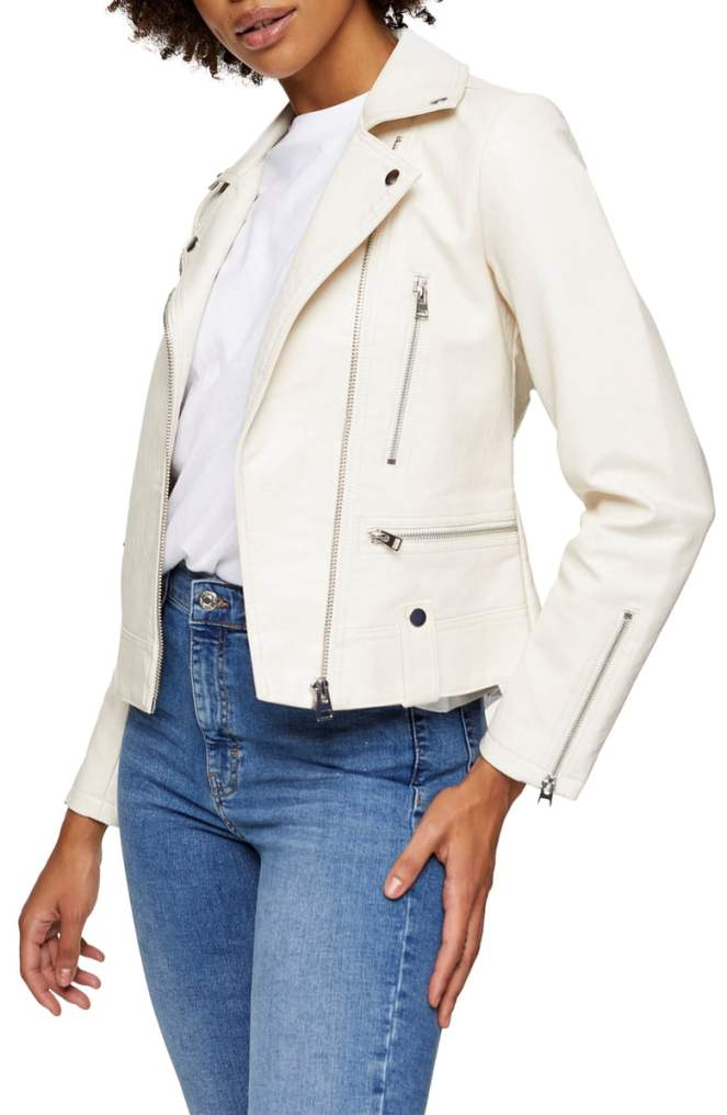 Nordstrom Sale - White Moto Jacket