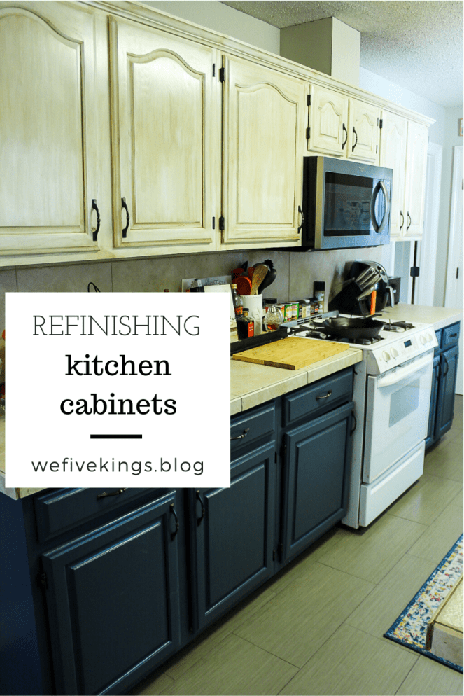 At Home with the Kings - Refinishing Kitchen Cabinets