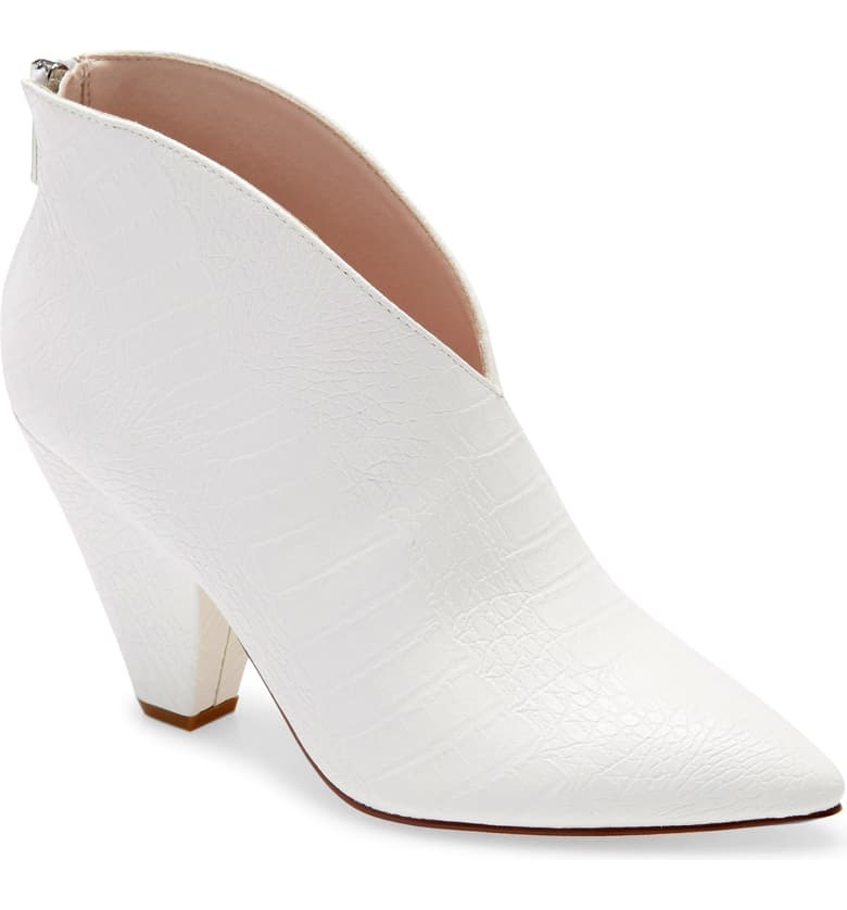 Nordstrom Chinese Laundry White low profile booties