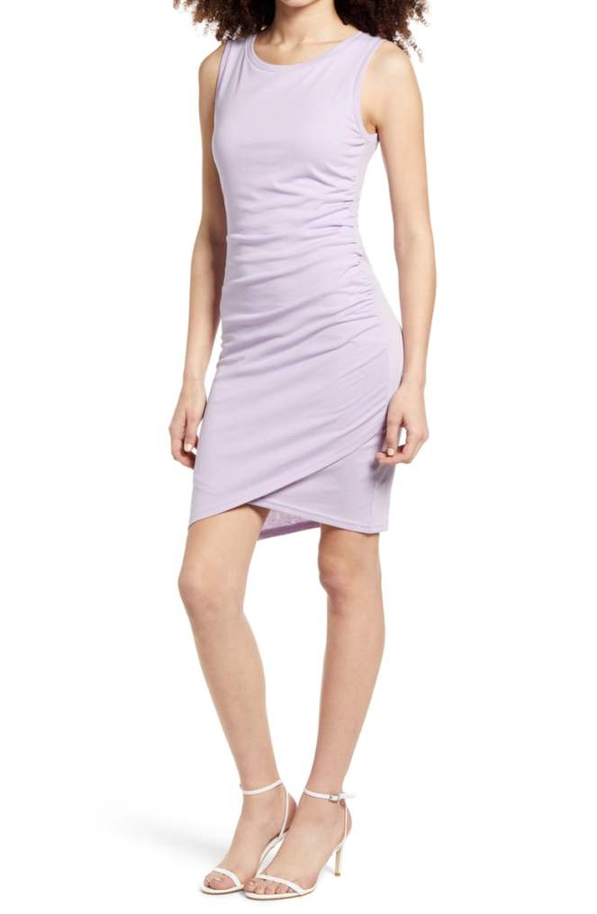 Nordstrom Leith ruched waist dress