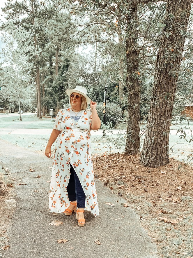 Perfectly Priscilla Boutique Maxi styled with Jeans