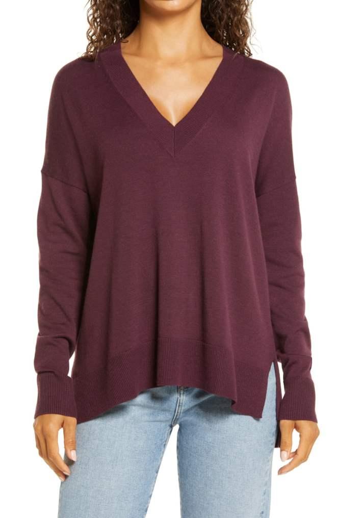 Nordstrom: Aubergine Sweater