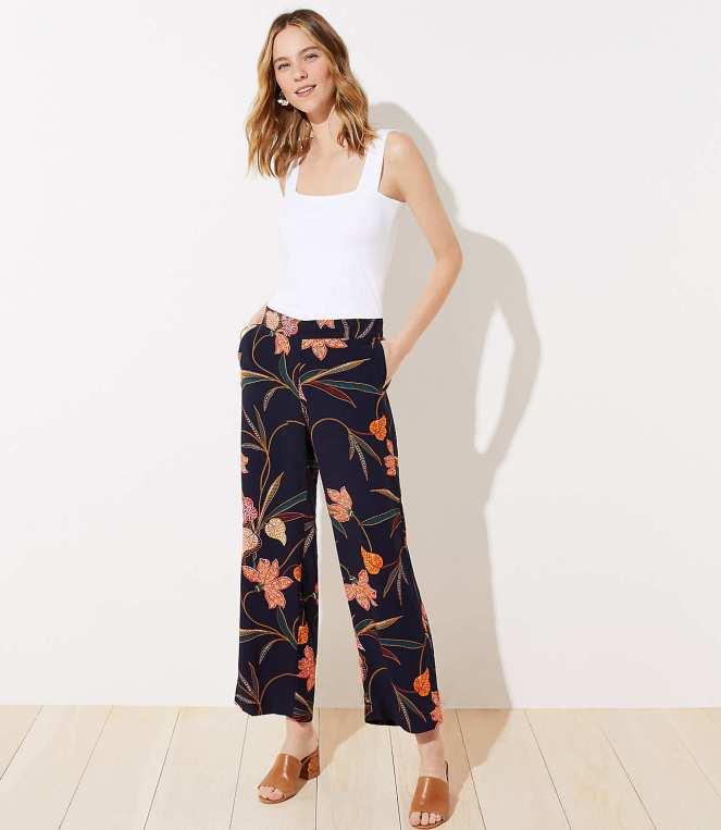 LOFT Floral Pants