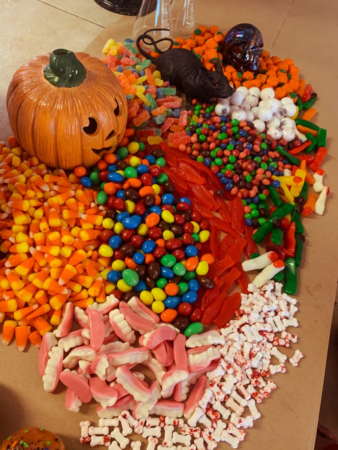 Halloween Candy Grazing board