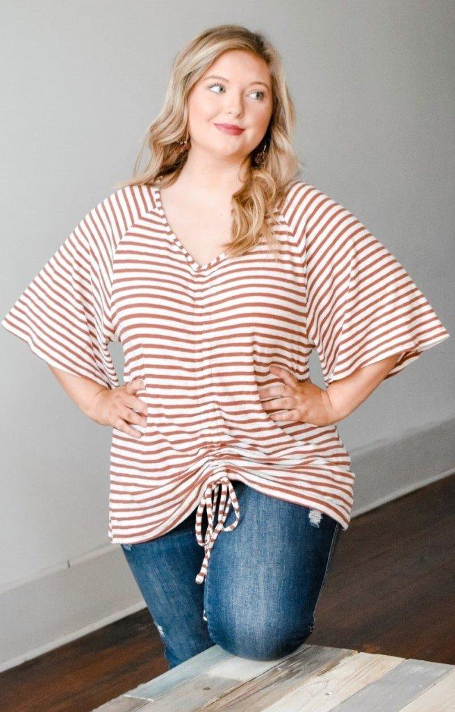 Perfectly Priscilla Striped Shirt
