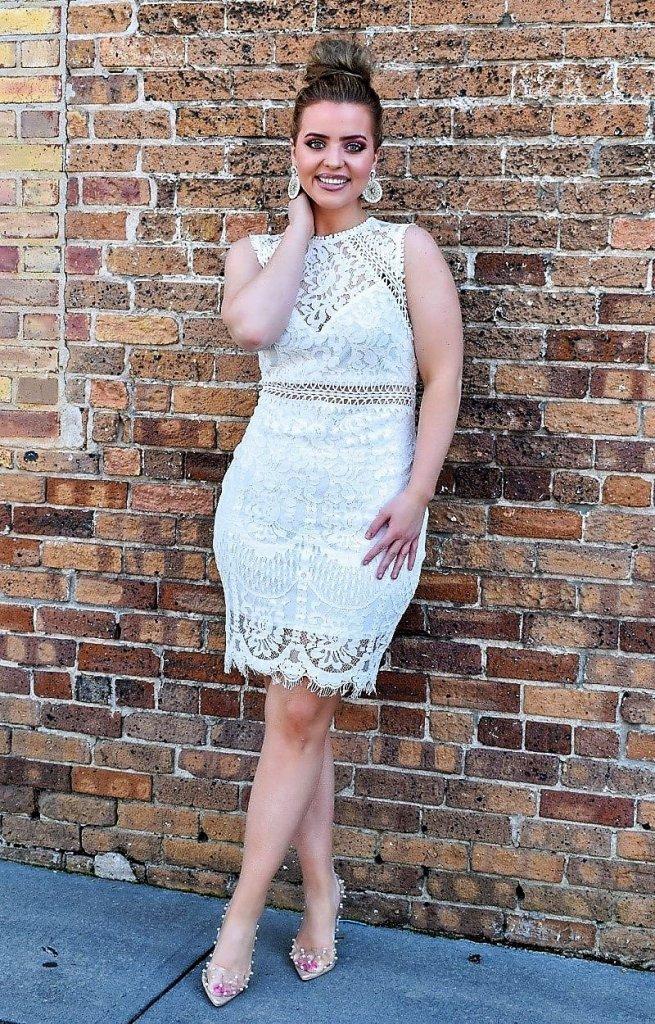 Perfectly Priscilla white lace dress