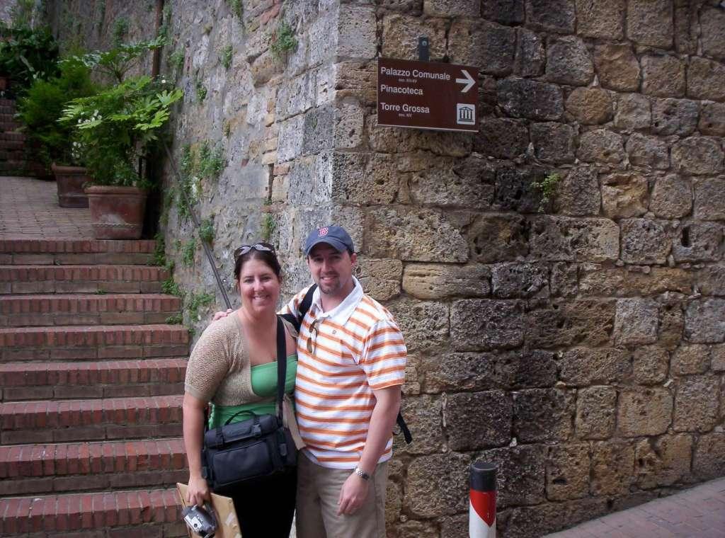 Justin and Tiffany in Italy