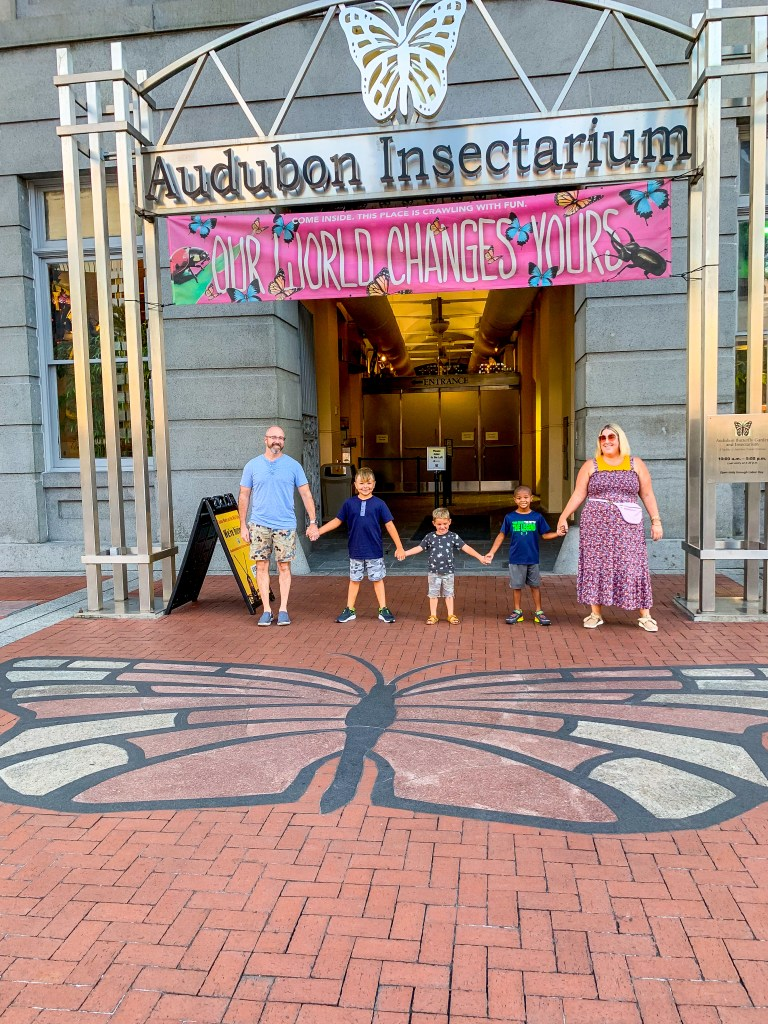 Family at the Audubon Insectarium - Field Trip Friday
