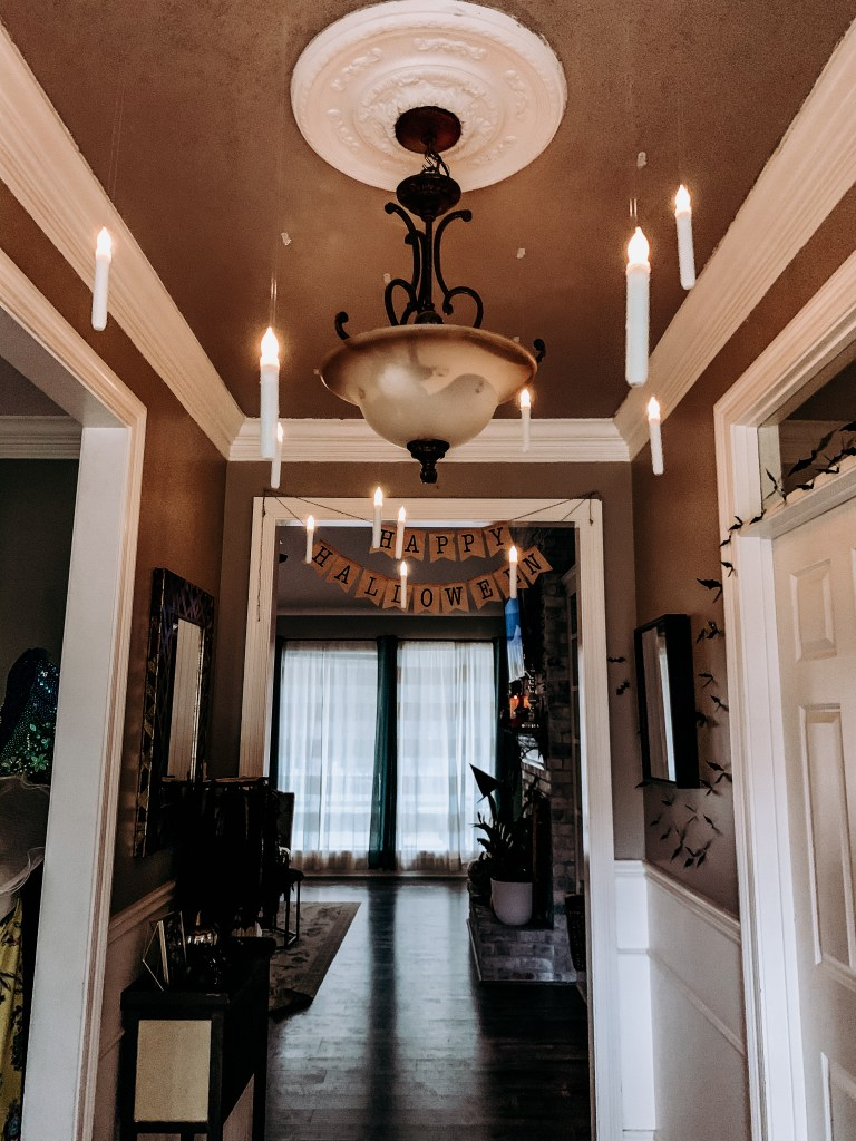 Floating candles foyer