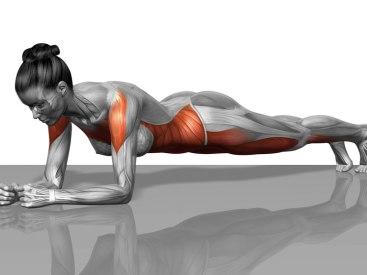 pijn in de onderrug planking